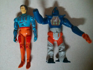 1982 Revell Power Lords Adam Power and Raygoth action figures