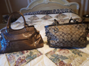 Authentic purses Coach and Guess