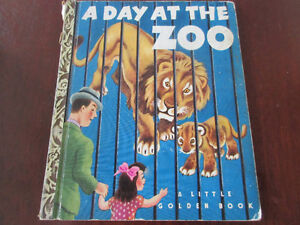 Vintage little Golden Bk - A Day at the Zoo 1950