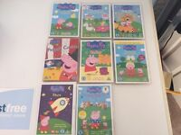 8 peppa pig DVD for £10