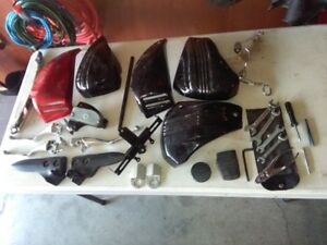 Yamaha Star Stratoliner mainifold pipes, side covers, levers