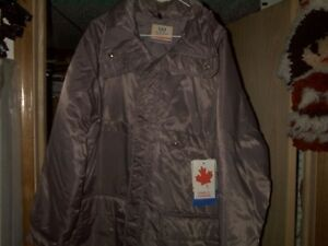 LEATHER FULL LENGTH COAT -and- NEW PARKA Regina Regina Area image 1