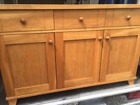 Contemporary Oak Sideboard, Excellent as new condition.