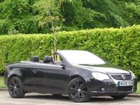 2008 VOLKSWAGEN EOS CONVERTIBLE 2.0TDI SPORT+FULLY LOADED+BLACK LEATHERS+PX POSS