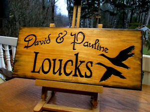 Custom hand carved personalized wood sign Peterborough Peterborough Area image 2