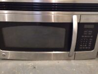 Stainless over the stove microwave