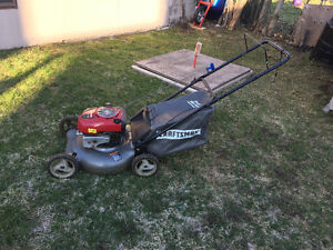 CRAFTSMAN BAGGER MOWER 190cc GREAT CONDITION