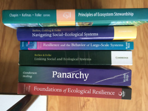 6 books on inter-relationships of ecological and social systems