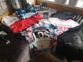 Boys Bundle Of tshirts age 10-12