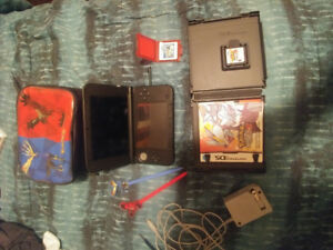 Nintendo 3DS-XL (Red/Black) Used 7/10 with case/cord/games