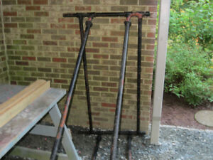 """Utility trailer sides - Fabricated from 52 feet  1""""  pipe, Ftgs."""