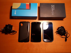 Used Nexus 5/16GB and Galaxy S3/16GB for sale!