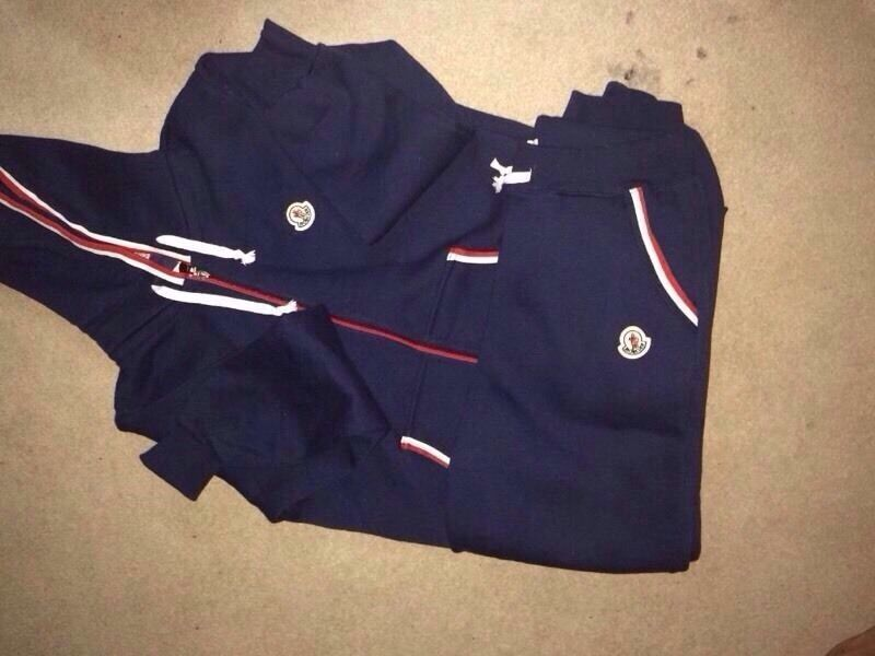 navy moncler tracksuit