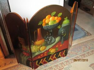 Fireplace Screen Made of Wood & Painted