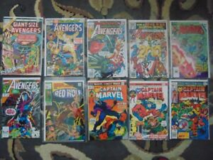 comic books-Avengers/Fantastic Four/Captain Marvel