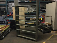 sell new and used metalware industrial boltless shelving