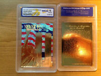 2002 23KT Gold Collectibles «Never Forget» World Trade Center