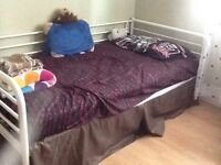 White IKEA Twin Bed Frame for sale!!!