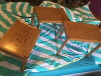 Vintage set of 3 nesting coffee / occasional tables in amazing condition