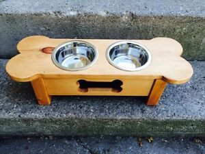 Handcrafted Dog Food Bowl Stand
