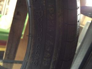 4 Michelin Pilot 225/45/R18 all season tires *ONLY 800km wear*