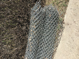 Chain link fence about  50 feet