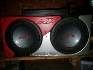 12 inch subwoofer and 1200 watt amp