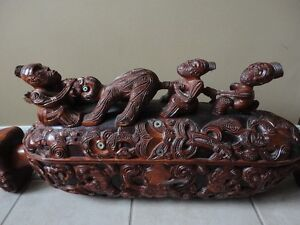 Unique Thai Hand Carved Sculpture Feng Shui London Ontario image 1