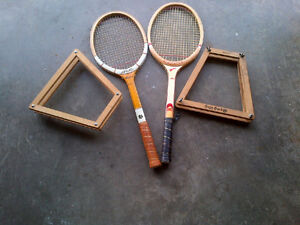 Two vintage tennis raquets in excellent condition.