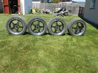 "SET OF 4 ROTO 16"" ALLOY WHEELS WITH 205/45/16 TIRES"