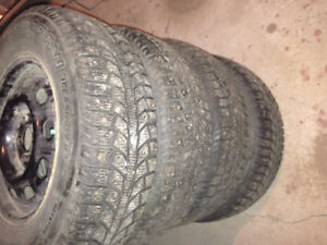 STUDDED Winter Tires 195/70R14