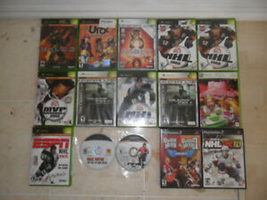 X-Box and Play Station 2 Games, many of them