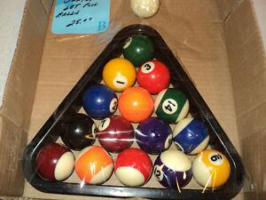 Junior Set of Pool Balls w/ Rack + TWO POOL STICKS - ALL for $25 Windsor Region Ontario image 2