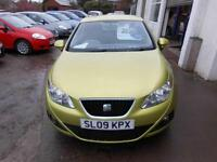 2009 SEAT IBIZA SE 1.4 PETROL 5 DOOR HATCHBACK IN METALLIC YELLOW.