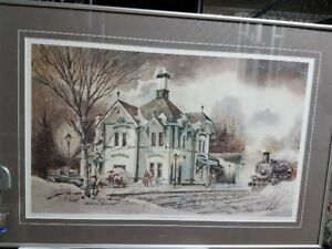 Limited Edition print Woodstock Train Station