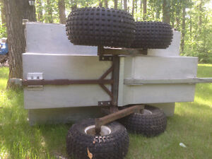 6' Custom Heavy Duty Walking Beam Tub Trailer