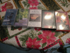 Five Cassette Tapes,Solitudes,Christmas & Country Favourites