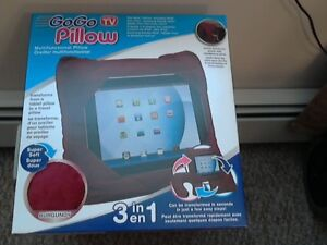NEW GOGO TABLET   PILLOW - 3 IN 1 -  BURGANDY