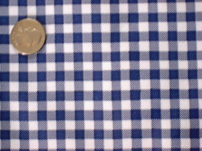 NAVY BLUE GINGHAM CHECK COUNTRY KITCHEN DINING OILCLOTH VINYL TABLECLOTH 48x48 - Navy Blue Vinyl Tablecloth