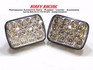 "LED SEALED BEAM HEADLIGHTS 6""X7"" FOR VEHICLES & HEAVY EQUIPMENT"