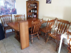 Solid Wood Canadian Made Dining Table & 6 Chairs