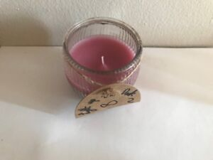 Small Pink Candle in Glass Container - Newly Made!