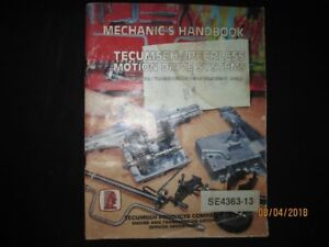 TECUMSEH/PEERLESS MOTION DRIVE SYSTEMS MECHANICS MANUAL