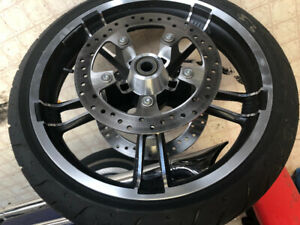 OEM factory wheels and tires . 2009 to Current Harley Davidson