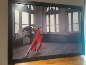 24x36 Canvas Print of Dancer in Red Dress