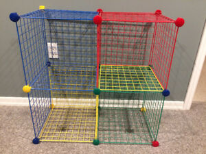 Multi--Colored Wire Shelving