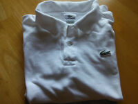 Lacoste Polo Blanc Grandeur 4 (Small) Homme