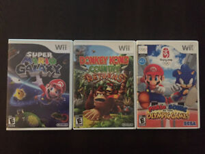 Wii Super Mario Donkey Kong Sonic Games