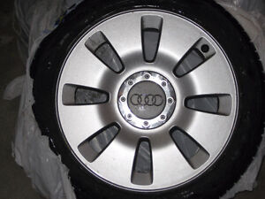 4 Nokian Snow rated All-Weather Tires on Audi A6 alloy rims