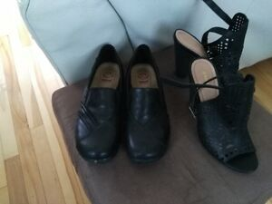 Numerous shoes and Winter coat for sale.